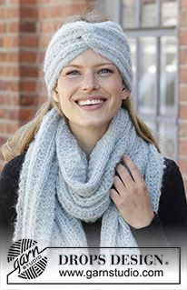Free knitting and crochet patterns by DROPS Design, # Free # cables # szde . Knitting needles and crochet hooks by DROPS Design, # Free Crochet hook # hat for women drops design Knitting Stitches, Knitting Patterns Free, Knit Patterns, Free Knitting, Free Crochet, Knit Crochet, Knitting Needles, Drops Design, Knitted Headband