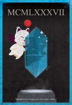 Final Fantasy XXV (25th) Anniversary Poster.