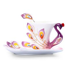 Porcelain colorful tea cup set