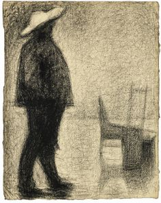 Georges Seurat (French, 1859-1891), Fort de la halle, c.1882. Conté crayon on laid paper, 32 x 25.5 cm.