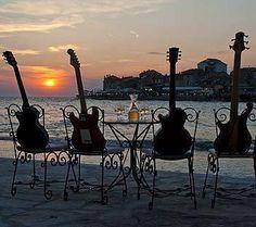 Ochestra on the beach Croatia