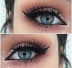 How to Rock Makeup For Blue Eyes smokey eye cat eye winged eyeliner