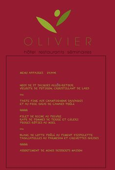 Menu Affaires - Octobre 2014