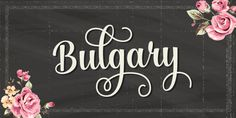 About Bulgary Fonts  Bulgary is a surreal script that combines brush lettering with traditional hand writing. It is multipurpose and flexible. It makes it easy to match with other typefaces to create beautiful projects such as wedding invitations, vintage designs, greeting cards, posters, book covers, illustrations, etc.