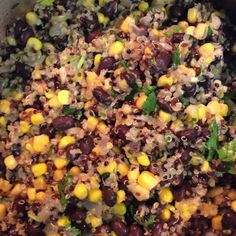 Quinoa and Black Beans Healthy - Recipe Black Bean Recipes, Beans Recipes, Canned Black Beans, Frozen Corn, Dash Diet, Saute Onions, Coriander Seeds, Cayenne Peppers, Convenience Food