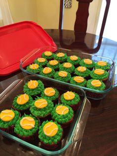 Tennis ball cupcakes  Made by MoMo's cupcakes- AKA me