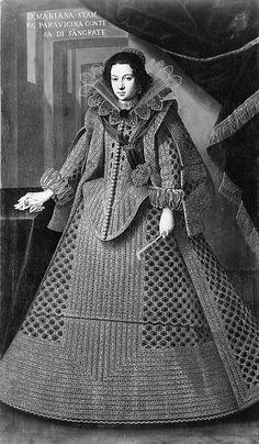 Doña Marianna Stampa Parravicina (born 1612), Condesa di Segrate  Spanish (Sevillian) Painter, early 17th century