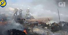 Imagens mostram caos em campo de refugiados na Síria após bombardeio