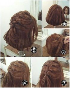 Haarschmuck - nest hairarrange - in 2020 Hairdos For Short Hair, Short Hair Cuts, Curly Hair Styles, Pretty Hairstyles, Braided Hairstyles, Hair Arrange, Pinterest Hair, Hair Dos, Hair Hacks