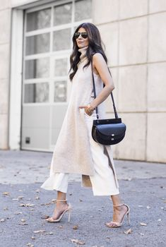 Outfit   Sleeveless Rollneck Tunica   Culottes
