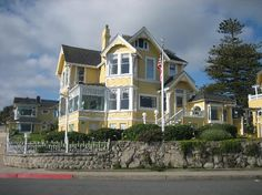 Seven Gables Inn, Monterey Ca. I love this place :) Pacific Grove California, California Dreamin', Monterey Ca, Blueberry Bushes, Carmel By The Sea, Blue Garden, Road Trippin, Victorian Homes, Bed And Breakfast