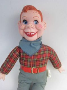 #HowdyDoody Vintage #Goldberger Puppet Doll #Ventriloquist Marionette with display STAND. Cord and mouth work great!