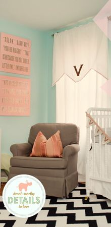 maybe one day. love the color combination. Baby Curtains, Valance Curtains, Baby 2014, Boy Bedrooms, Maybe One Day, Nursery Inspiration, Window Treatments, Future House, Color Combinations