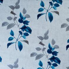 Almodovar Teal Leaf Oil Cloth