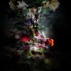 Flower-Infused Photography : Atomic Occasions Patterns full of leaves and shrubs blend into the background, making the women appear as if they are literally sinking into the images.