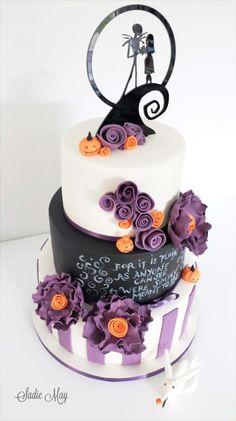 Nightmare before christmas wedding cake - Cake by Sharon, Sadie May Cakes