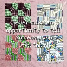 And tell them often!  Vintage bow tie quilt top from my collection. Love the…