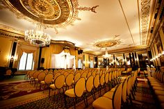 The Empire Room at The Palmer House Hilton was once a famous Supper Club where icons from Judy Garland to Cher performed.   www.palmerhouseweddings.com