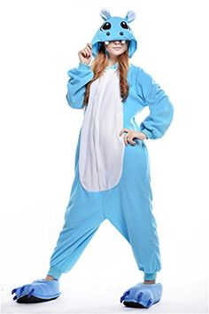 VU ROUL Unisex Adults Kigurumi Onesies Anime Costume Hippo Sleepwear XL *** See this great product.