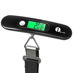 1byone Digital Portable Hanging Scale Luggage Scale with Backlit LCD Display, Auto Off & Tare Function, 110lb Capacity, Black