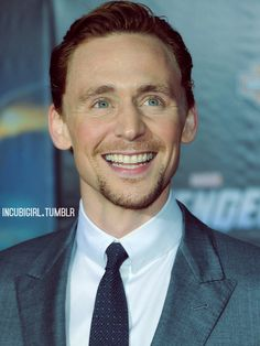 Tom Hiddleston - His smile is like sunshine!