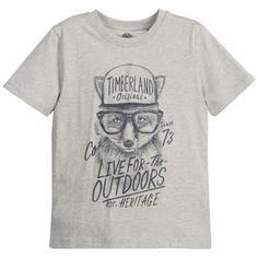 Timberland Boys Grey 'Flying Fox' T-Shirt at Childrensalon.com