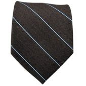 Ties - Wool Stripe - Brown - Ties
