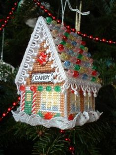 From the book Plastic Canvas Gingerbread Village by Carol Mansfield. I'll have to look for that one.