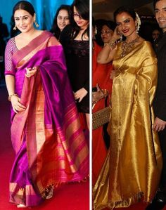 pretty ladies! Indian kanjeevaram sarees <3