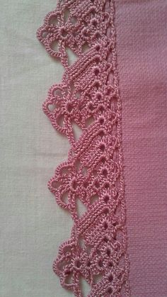 How to Crochet Wave Fan Edging Border Stitch Crochet Edging Patterns, Crochet Lace Edging, Crochet Leaves, Crochet Borders, Lace Patterns, Thread Crochet, Crochet Designs, Crochet Doilies, Crochet Flowers