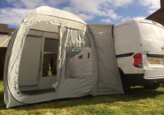 Review of Awnings for Mini Day Vans like VW Caddy and Transit Connect Vans