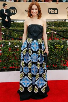 WHO: Ellie Kamper WHAT: Nominee, Outstanding Performance by a Female Actor in a Comedy Series for Unbreakable Kimmy Schmidt WEAR: Peter Pilotto gown.