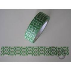 Masking Tape grün mit Muster