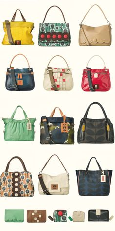 Orla Kiely handbags...my weakness...love them all so very much....