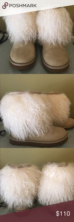 Ugg boots Fur Uggs size 5. Boots are in great condition, have only been worn once. No longer have the Ugg box it came in. UGG Shoes Ankle Boots & Booties