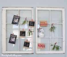 I don't have the old windows, but I love the idea of hanging Christmas cards as we get them... But we never seem to get many.