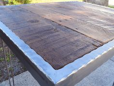 Hey, I found this really awesome Etsy listing at http://www.etsy.com/listing/150809488/hammered-steel-dining-table-with-hairpin