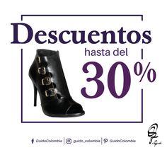 Descuentos hasta del 30% ¡Te esperamos! #fashion #guidocolombia #descuentos #lovehoes👠 #shoestagram ¡Visítanos! C.C El Retiro Local 1-107// C.C Hacienda Santa Bárbara Local B-123