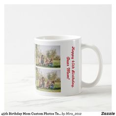 #mothersbirthday #giftsformom #giftsformother #giftsformothersbirthday #photomugformom #photomugformother #mugformothers #mugformom #mugformother #45thbirthday #45thbirthdaymom #45thbirthdaymother Mother Birthday, Happy Birthday, Dear Mom, Personalized Products, Custom Photo, Photo Mugs, Gifts For Mom, Funny Jokes, Create Your Own