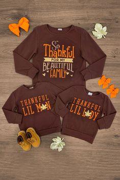 Thankful family shirts family shirt design, disney shirts for family, family shirts, thanksgiving Family Thanksgiving, Thanksgiving Outfit, Thanksgiving Quotes, Thanksgiving Tshirts, Momma Shirts, Shirts For Girls, Disney Shirts For Family, Family Shirts, Sibling Shirts