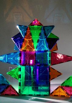 Magna-Tiles flashlight creation by Magna-Tects What She Buys in San Marino, CA!
