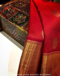 Image may contain: indoor Kanjivaram Sarees Silk, Pure Georgette Sarees, Indian Silk Sarees, Kanchipuram Saree, Silk Lehenga, Pure Silk Sarees, Bridal Sarees South Indian, Wedding Silk Saree, Trendy Sarees