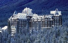 Banff Springs Hotel in Banff, Alberta is so beautiful and is said to be haunted by a bride who fell to her death on her wedding night.  #CDNGetaway