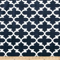 Premier Prints Dolce Vita Minky Cuddle Lattice Navy/Snow