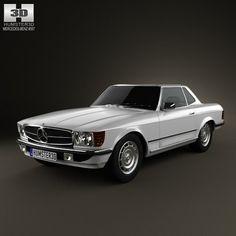 Mercedes-Benz SL-Class R107 coupe 1972 3D Model .max .obj .3ds .fbx .lwo .lw .lws .c4d