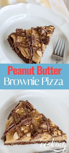Peanut Butter Brownie Pizza is one of the best kind of pizza ever made. This pizza is made with a brownie crust, a creamy peanut butter middle, lots of chocolate, crushed peanuts and a peanut butter cup topping. Easy No Bake Desserts, Best Dessert Recipes, Easy Desserts, Delicious Desserts, Layered Desserts, Sweets Recipes, Pizza Recipes, Cupcake Recipes, Recipes Dinner
