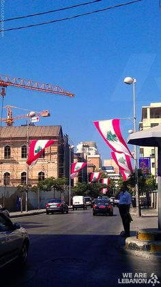 #Lebanese flags all over #Hamra الأعلام اللبنانية ترتفع في الحمرا  By Ghinwa M. Halik Beirut Lebanon, Army Love, Where The Heart Is, Middle East, Serenity, Past, Places To Visit, Country, Nature