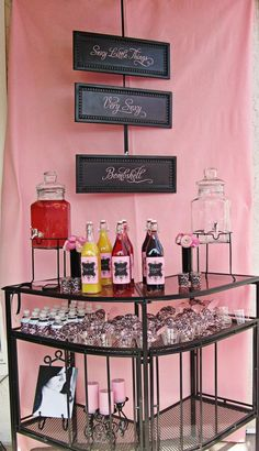 Bridal Shower Idea-Lingerie Bridal Shower...Sexy Bar