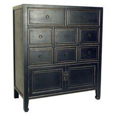 Wayborn Suchow 8 Drawer Chest - Black  36x18x42 $685