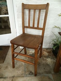 School Chairs x 8 (SOLD AS ONE LOT) - Wooden